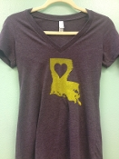 Where the Heart Is - Purple and Gold Shirt